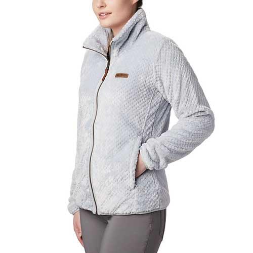 Women's Fireside II Sherpa Full-Zip Jacket, White, swatch