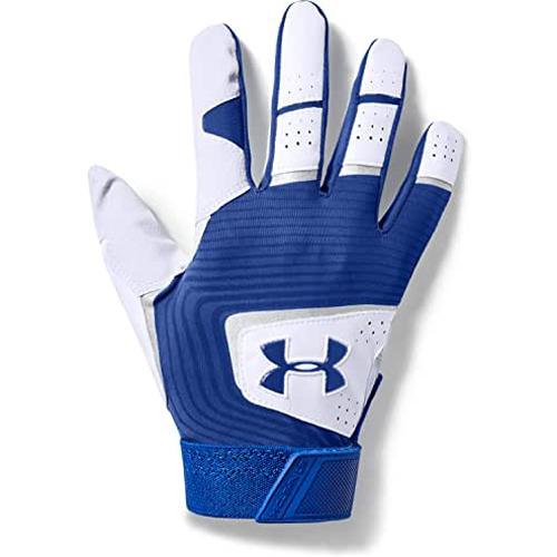 Men's Clean Up Baseball Gloves, Royal Blue/White, swatch