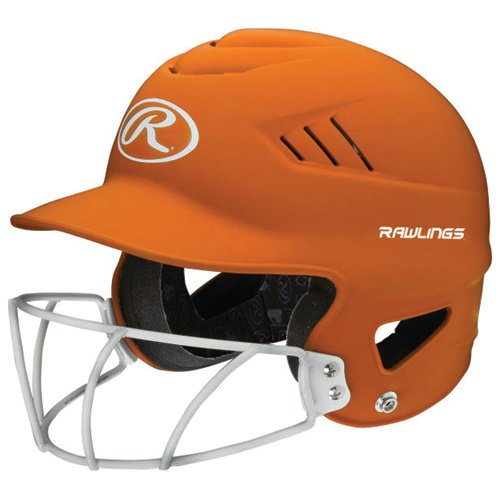 Highlighter Fastpitch Batting Helmet With Mask, Orange, swatch