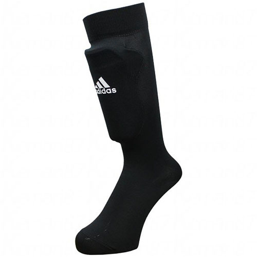 Youth Shin Guard Socks, Black, swatch