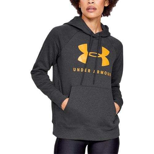 Women's Rival Fleece Sportstyle Graphic Hoodie, Charcoal,Smoke,Steel, swatch