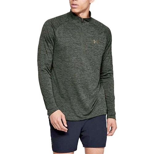 Men's Long Sleeve Tech 1/2 Zip Shirt, Dkgreen,Moss,Olive,Forest, swatch