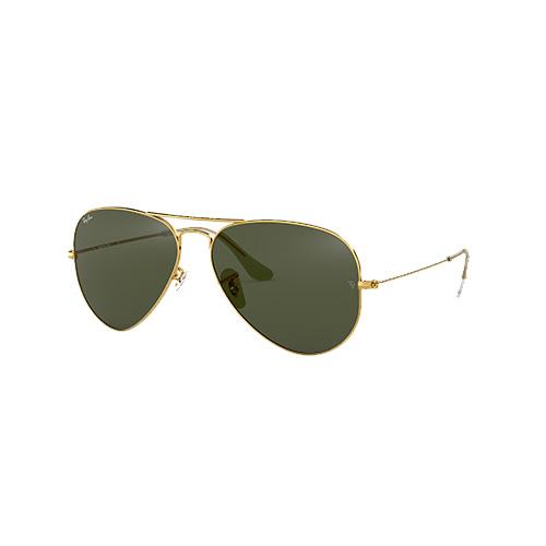 Aviator Classic Sunglasses, Yellow/Green, swatch