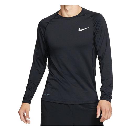 Men's Slim Fit Long-Sleeve Top, Black, swatch