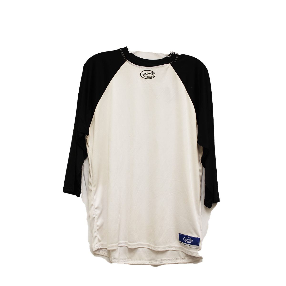 Youth 3/4 Shirt, White/Black/Gray/Silver, swatch