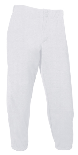 Women's Low Rise Athletic Cut Softball Pant, White, swatch