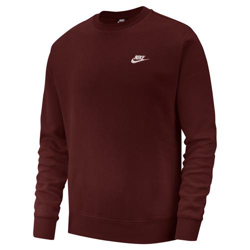 Men's Sportswear Club Crewneck Sweatshirt, Dk Red,Wine,Ruby,Burgandy, swatch
