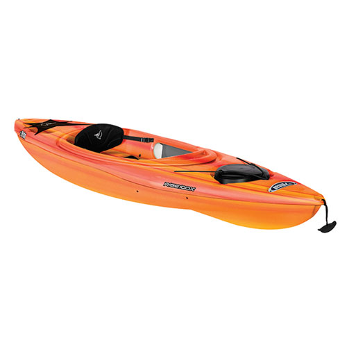 Rise 100x Fade Sit-in Kayak, Bright Red/Yellow, swatch