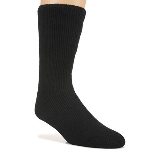 Men's Ultra Warm Fireside Socks, Black/White, swatch