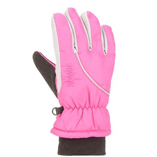 Boys' Snowball Gloves, Pink/White, swatch