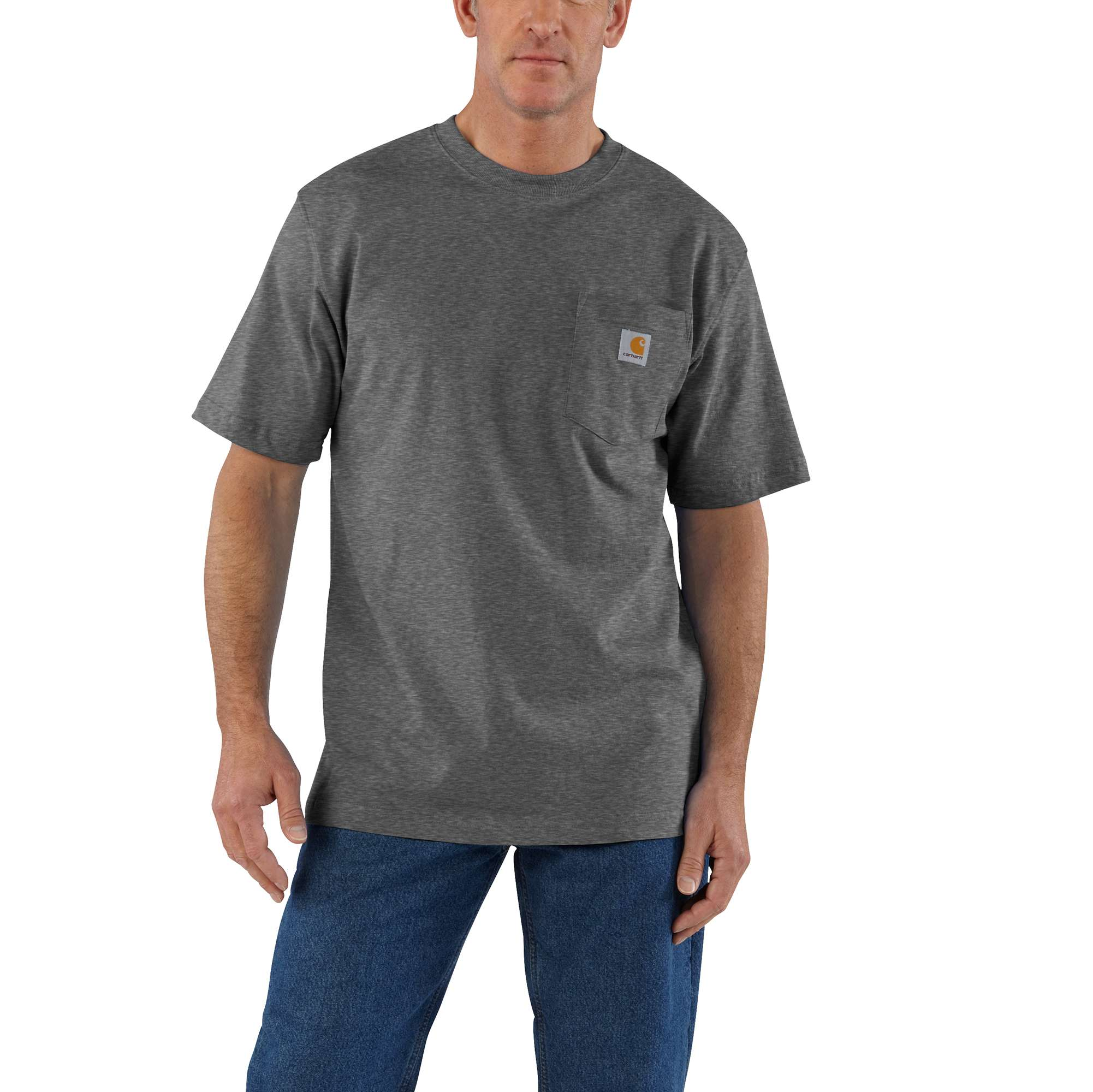 Men's Big & Tall Workwear Pocket T-Shirt, Gray, swatch