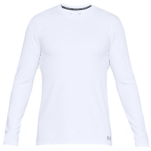 Men's Long Sleeve ColdGear Fitted Crew Top, White, swatch