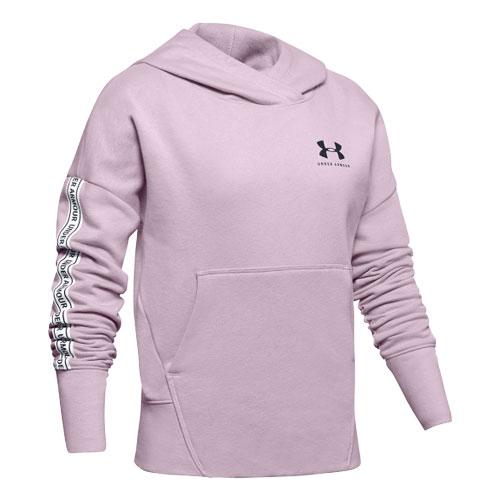 Girls' Sportstyle Hoodie, Pink, swatch