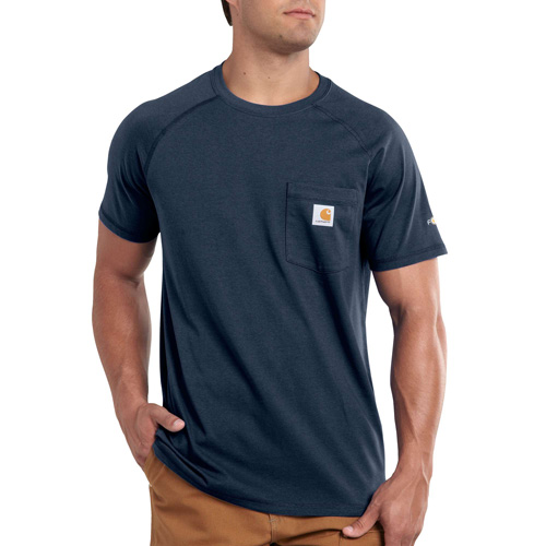 Men's Short Sleeve Force Cotton Delmont Tee, Navy, swatch