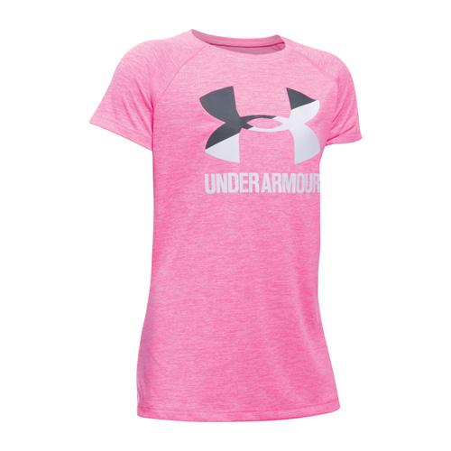 Girls' Novelty Big Logo T-Shirt, Pastel Pink,Theatrical, swatch