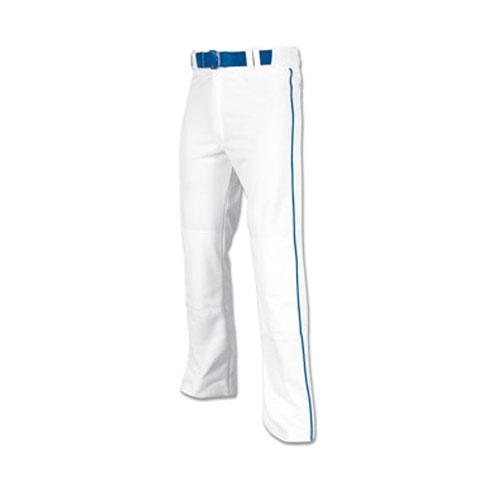 Men's Pro-Plus Open Bottom Baseball Pants, White/Royal, swatch