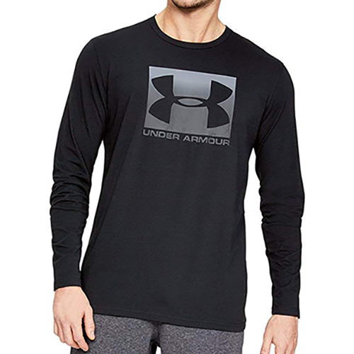 Men's Long Sleeve Boxed Sportstyle Shirt, Black, swatch