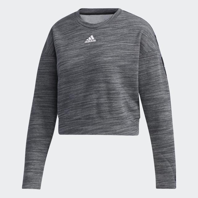 Women's Long Sleeve Tape Crewneck Sweater, Charcoal,Smoke,Steel, swatch