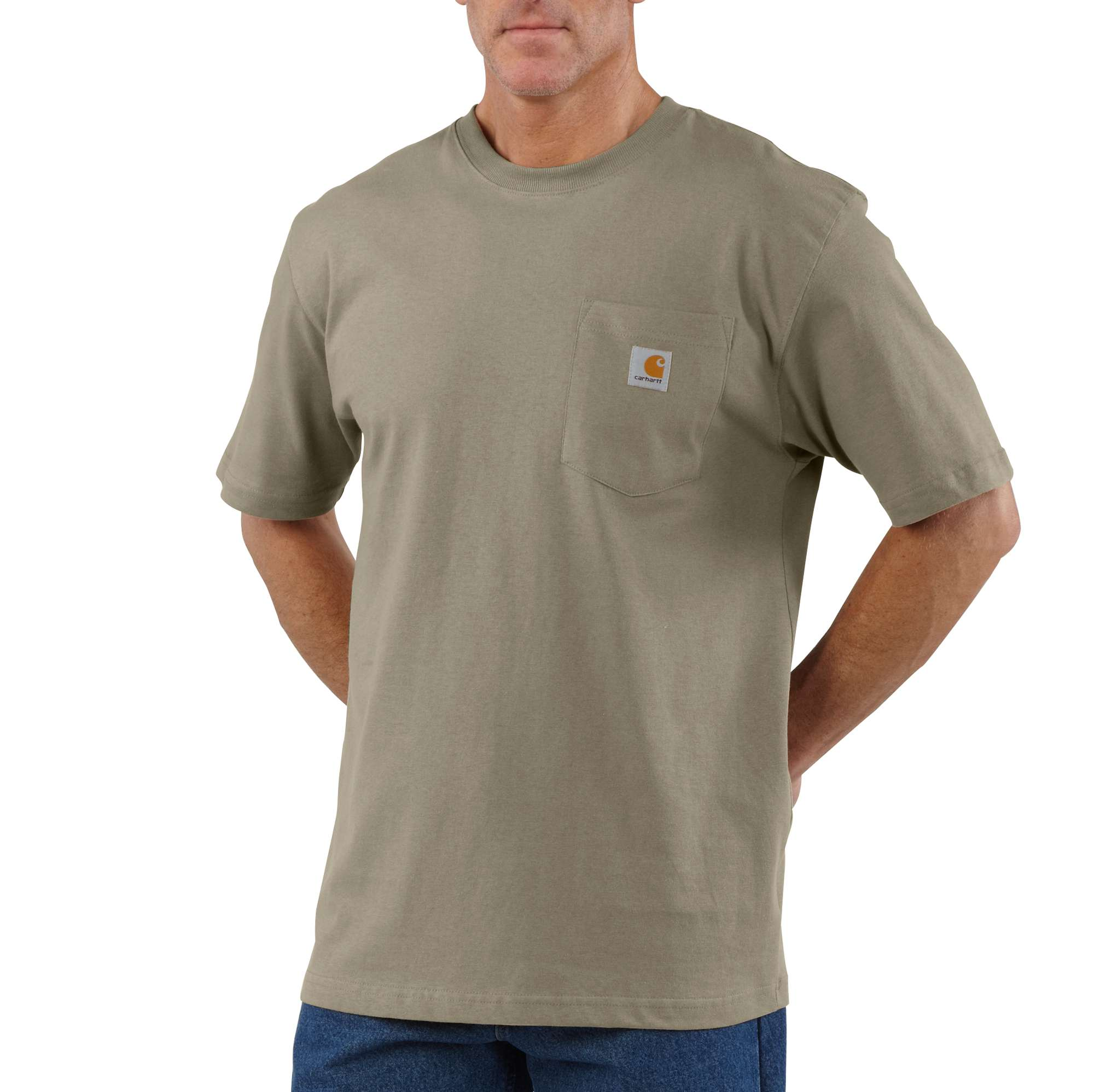 Men's Workwear Pocket Tee, Lt Brown,Taupe, swatch