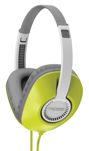 Full Size Over The Ear Headphones With Mic, Green, swatch