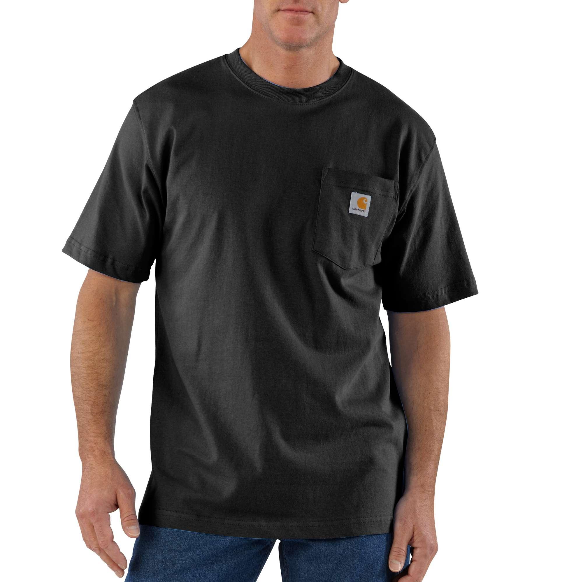 Men's Big & Tall Workwear Pocket T-Shirt, Black, swatch