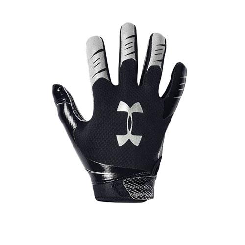 Men's F7 Football Receiver Gloves, Black, swatch