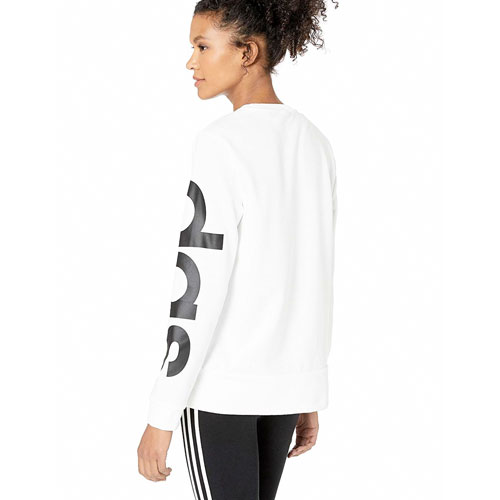 Women's Essentials Brand Sweatshirt, White, swatch