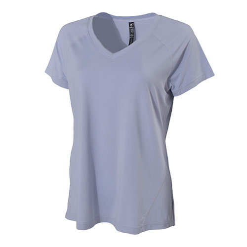 Women's Soft Scoop V-neck Short Sleeve T-Shirt, Lt Gray,Dove Gray, swatch