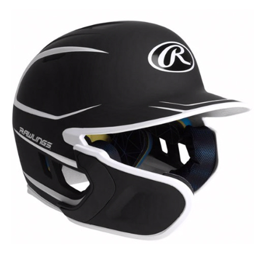 Junior MACH 2-Tone Matte Batting Helmet, Black, swatch