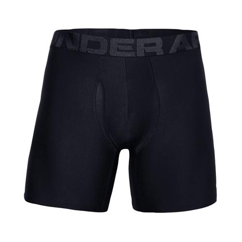 """Men's UA Tech 6"""" Boxerjock 2-Pack, Black, swatch"""