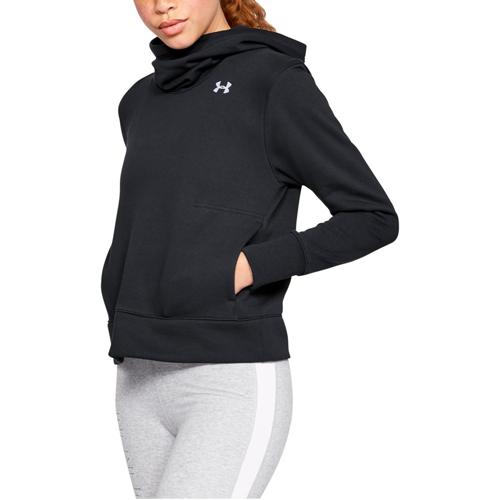 Women's Cotton Fleece Logo Hoodie, Black, swatch