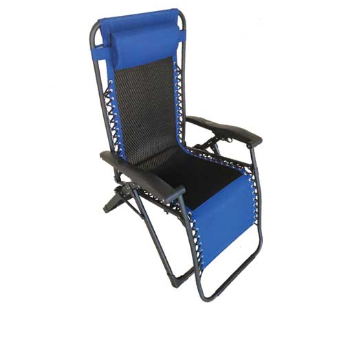 Deluxe Mesh Zero Gravity Chair, Navy/Black Or Silver, swatch