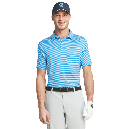 Men's Greenie Stripe Golf Polo, Royal Bl,Sapphire,Marine, swatch