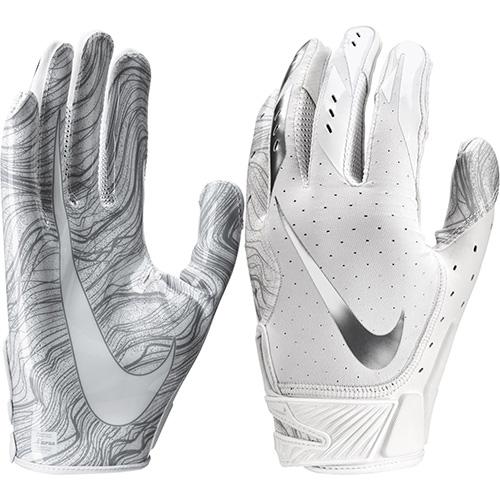 Youth Vapor Jet 5.0 Football Gloves, White, swatch