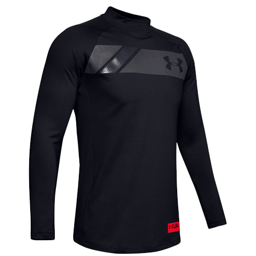 Men's Long Sleeve ColdGear Gametime Mock, Black, swatch