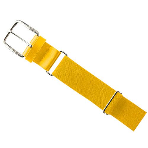 "1.5"" Leather Baseball Belt, Gold, Yellow, swatch"