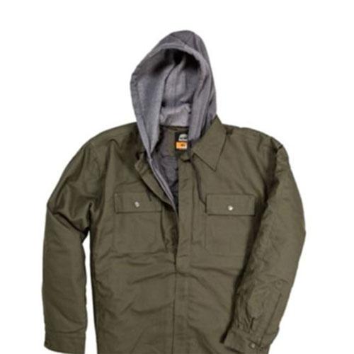 Men's Hooded Shirt Jacket, Sage, swatch