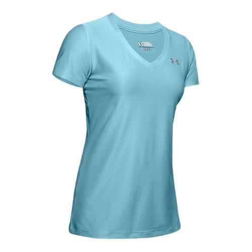 Women's Tech V-Neck T-Shirt, Blue, swatch