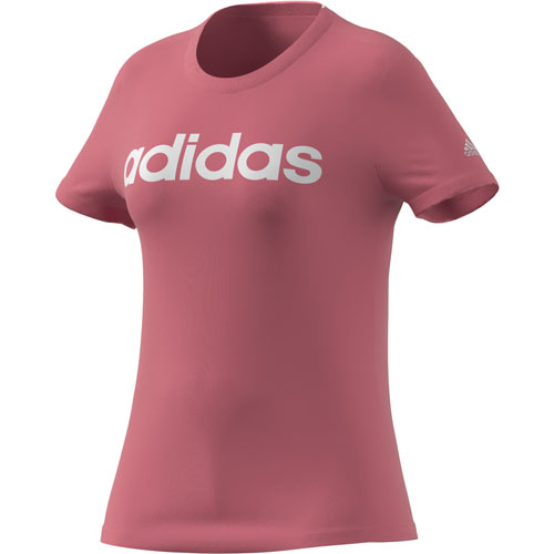 Women's Short Sleeve Linear Tee, Pink, swatch