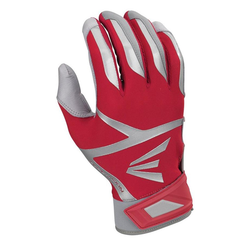 Men's Z7 VRS Hyperskin Batting Gloves, Gray/Red, swatch