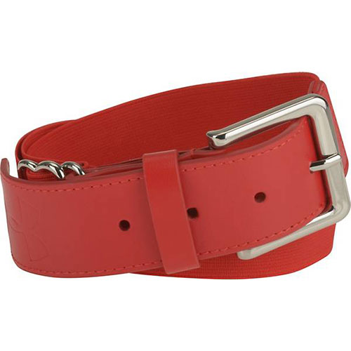 Adult Baseball Belt, Red, swatch