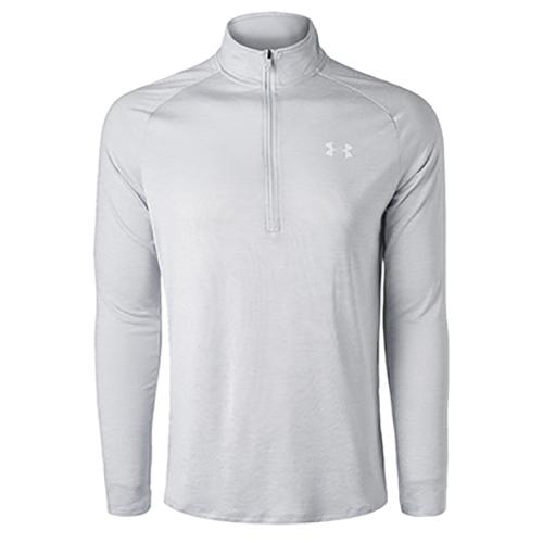 Men's Long Sleeve Tech 1/2 Zip Shirt, Heather Gray, swatch