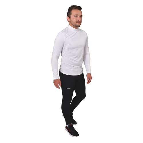 Long Sleeve Cold Weather Mock Shirt, White, swatch