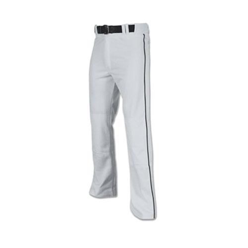 Men's Pro-Plus Open Bottom Baseball Pants, Gray/Black, swatch