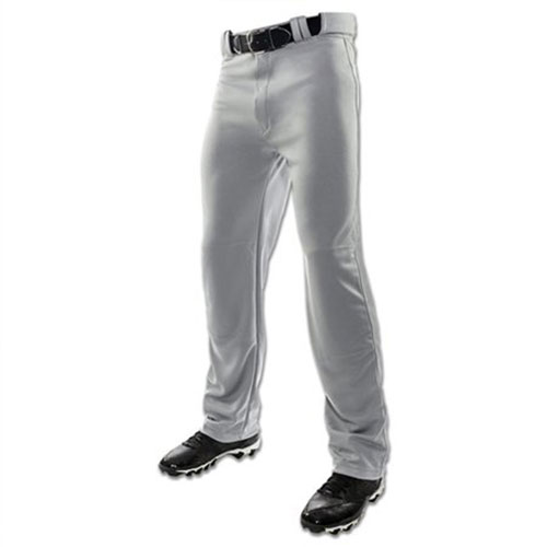 Youth MVP Piped Open Baseball Pant, Gray/Black, swatch
