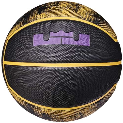 Lebron Official Basketball, Black/Yellow, swatch