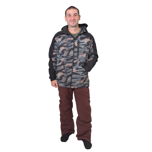 Men's Hammer Insulated Snowpants, Brown, swatch