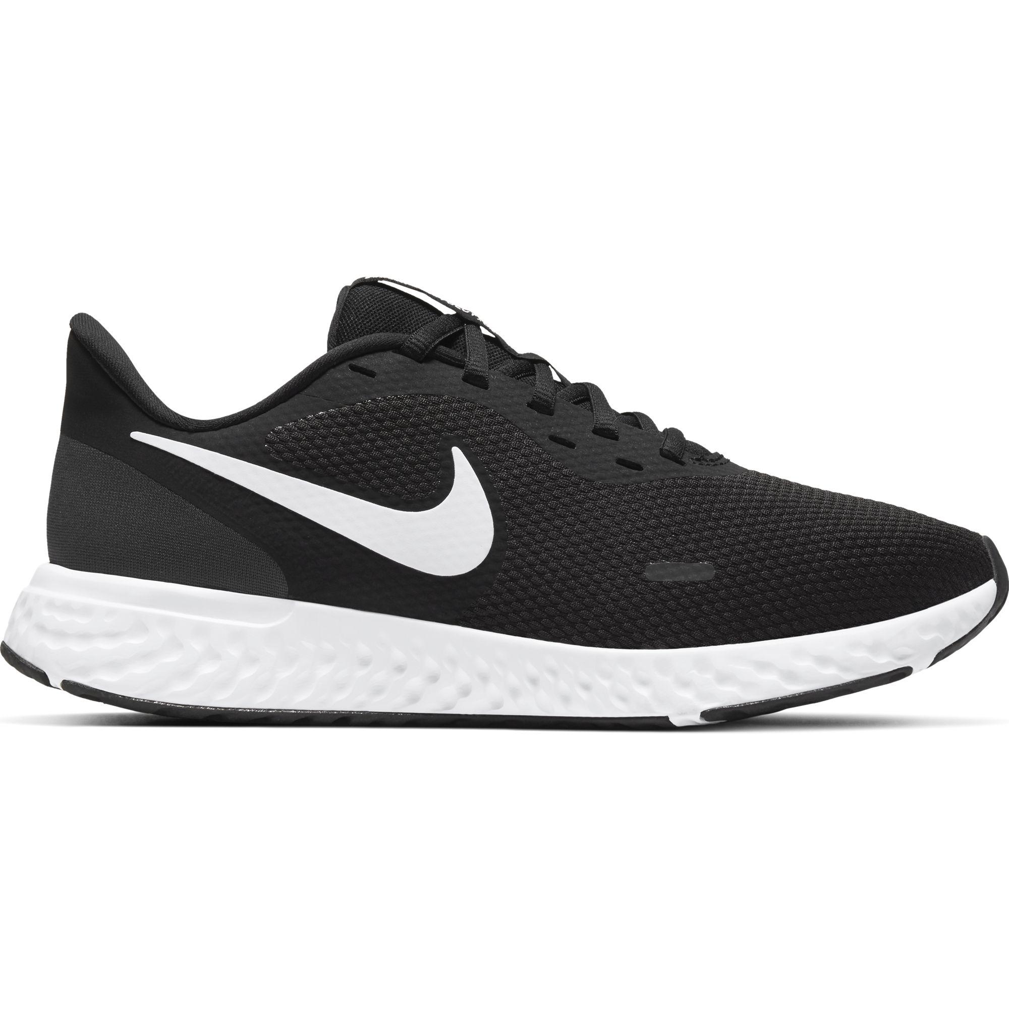 Women's Revolution 5 Running Shoe, Black/White, swatch