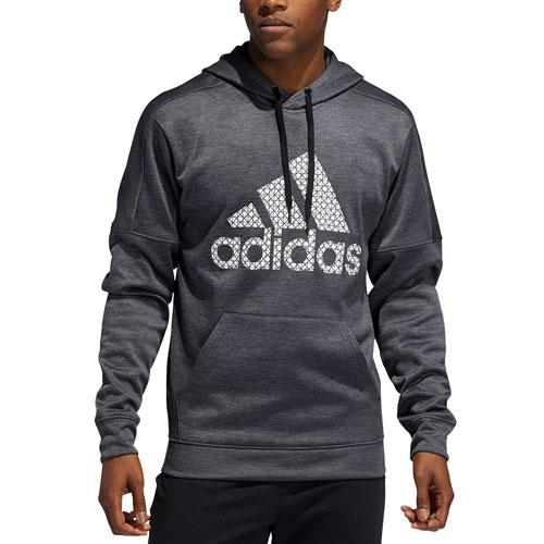 Men's Team Issue Fleece Logo Hoodie, Gray, swatch
