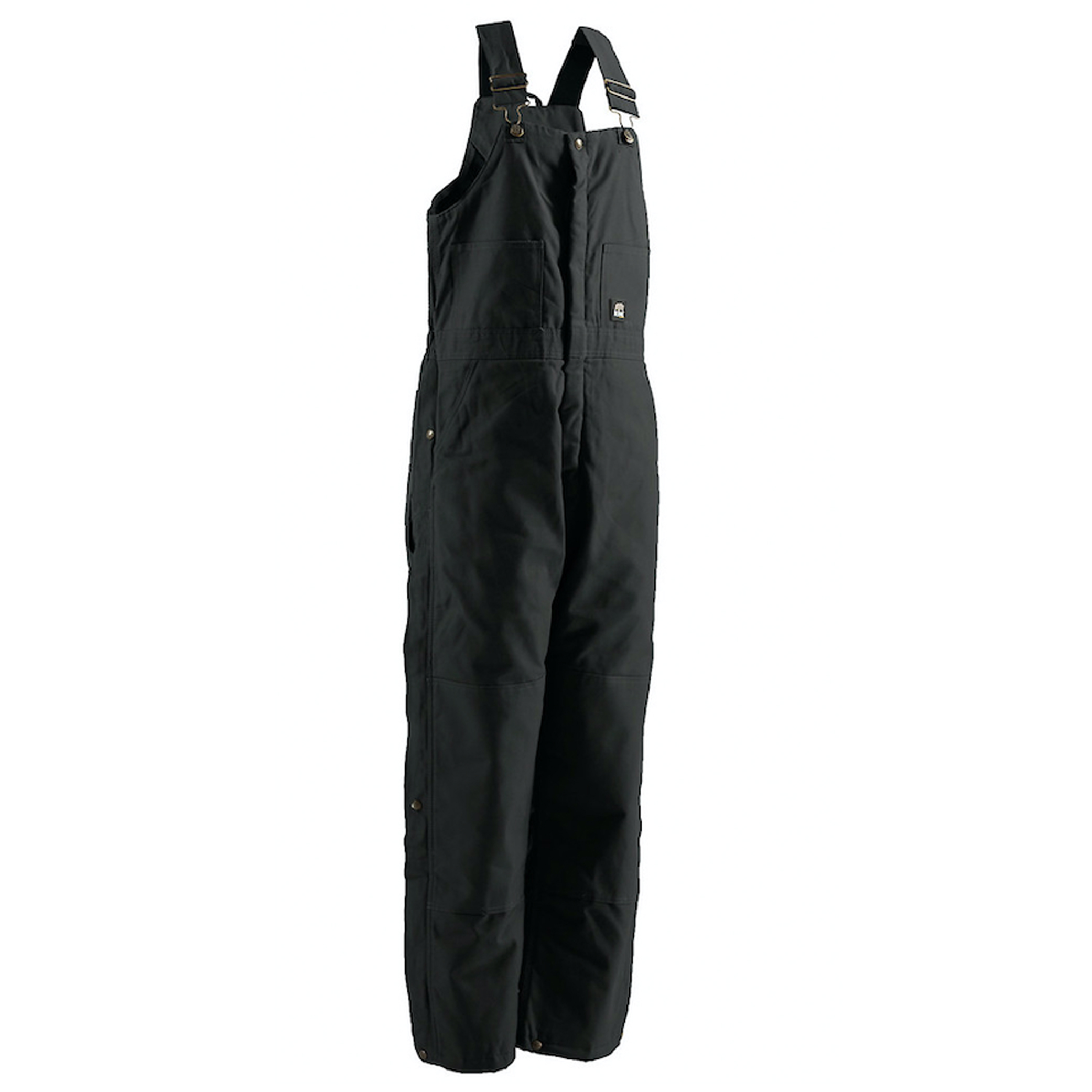 Deluxe Insulated Bib Overall - Short, Black, swatch